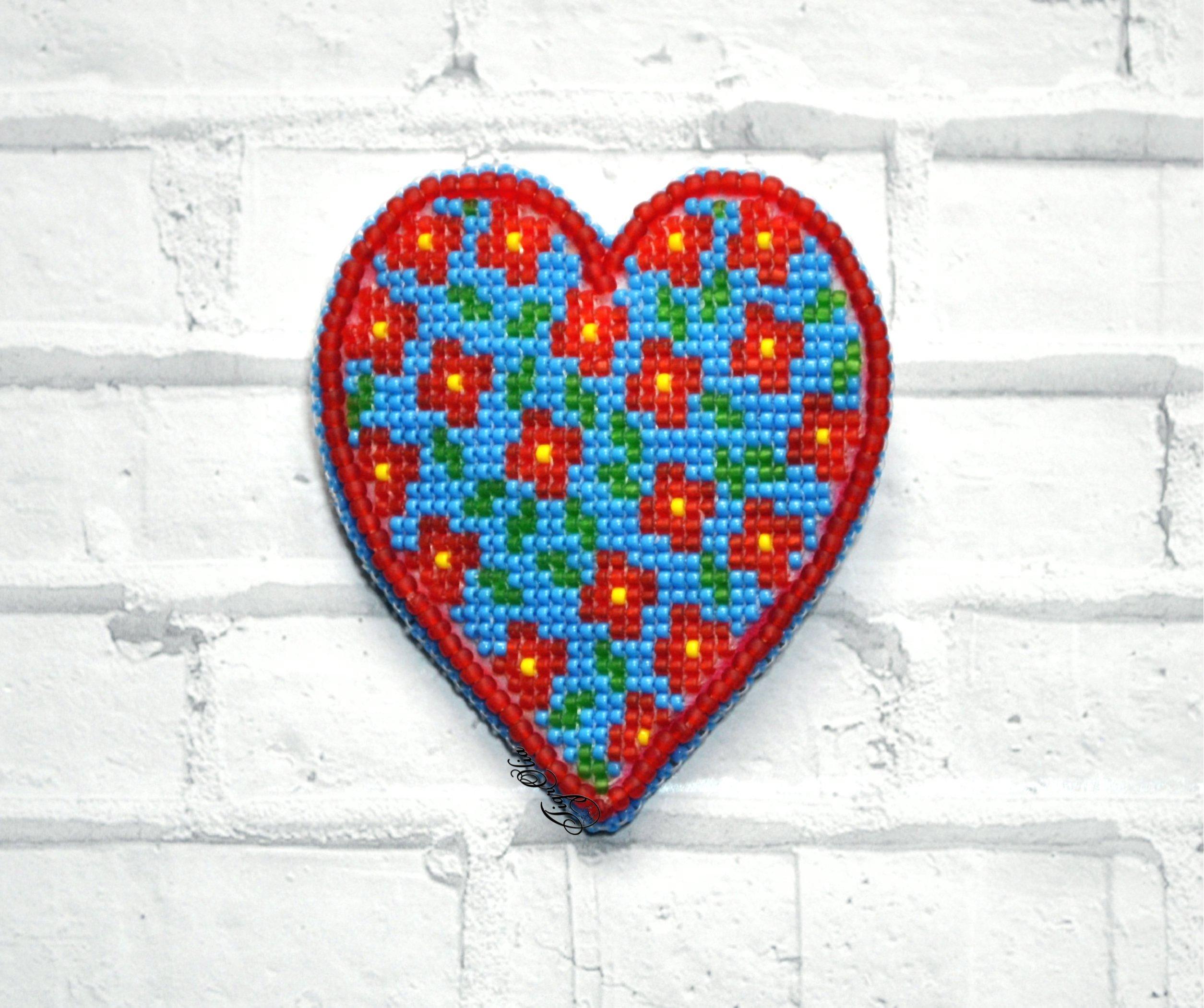 Альбом пользователя TigrOlia: Брошь Сердце летнего дня